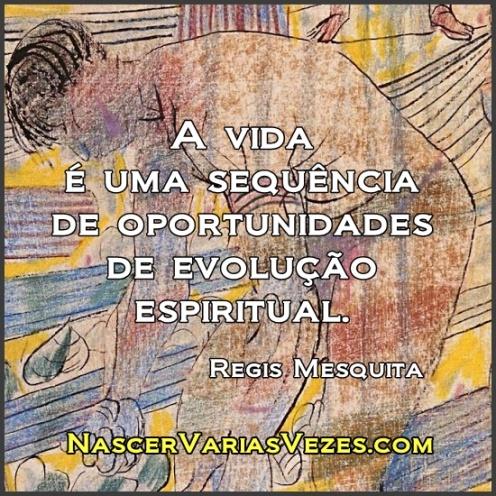A vida é uma sequência de oportunidades de evolução espiritual