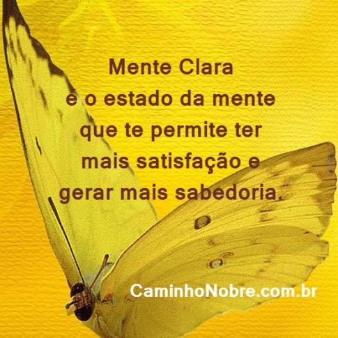 Mente clara é o estado da mente que te permite ter mais satisfação e gera mais sabedoria