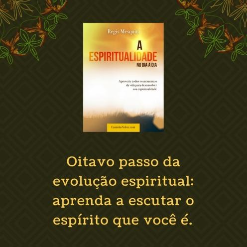 Oitavo passo da evolução espiritual: aprenda a escutar o espírito que você é.
