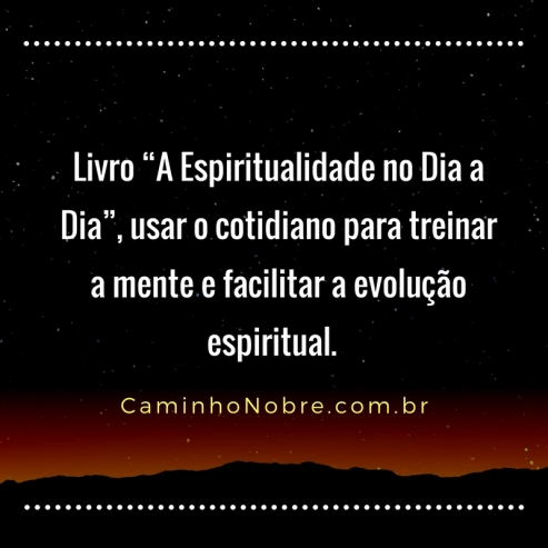Livro A Espiritualidade no dia a dia, usar o cotidiano para treinar a mente e facilitar a evolução espiritual.