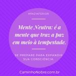 Mente Neutra é a mente que traz a paz em meio à tempestade